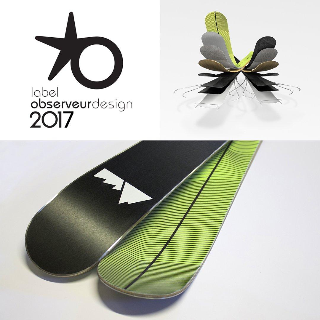 Label 2017 de l'Observeur du design pour notre concept «De Bas en Haut»